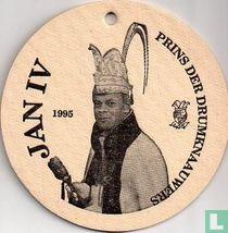 Jan IV 1995 - Prins der Drumknaauwers - Voorkant: Groen rij met glazen met gezichtjes