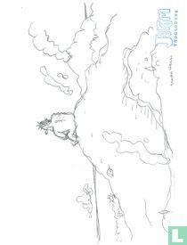 Cromheecke, Luc - Originele schets - Jerom op berg- (2015)