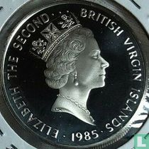 "British Virgin Islands 20 dollars 1985 (PROOF) ""Gold escudo"""