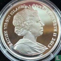 """Britse Maagdeneilanden 10 dollars 2013 (PROOF) """"50th anniversary Death of John F. Kennedy"""""""