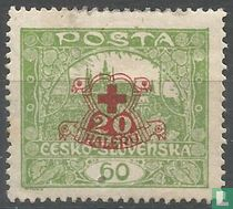 Kasteel Hradcany (opdruk Rode Kruis)