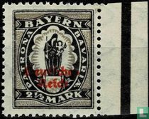 Imprint on stamps from Bavaria