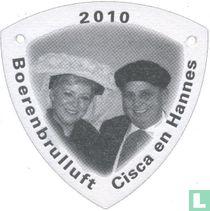 Boerenbrulluft Cisca en Hannes