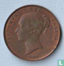 Verenigd Koninkrijk 1 penny 1854 (dubbele punt dichtbij DEF)