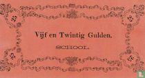 Schoolgeld 25 Gulden 1860