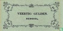 Schoolgeld 40 Gulden 1860