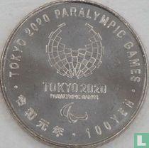 """Japan 100 yen 2019 (jaar 1) """"2020 Paralympics in Tokyo - Archery"""""""