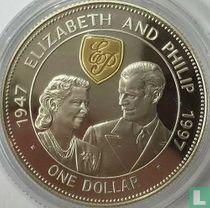 "Barbados 1 dollar 1997 (PROOF) ""50th Wedding anniversary of Queen Elizabeth II and Prince Philip"""