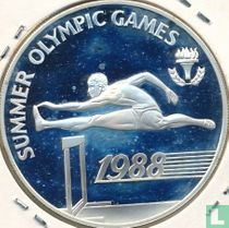 """Barbados 20 dollars 1988 (PROOF) """"Summer Olympics in Seoul"""""""