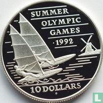 "Barbados 10 dollars 1992 (PROOF) ""Summer Olympics in Barcelona"""