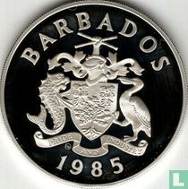 """Barbados 20 dollars 1985 (PROOF) """"United Nations decade for women"""""""