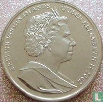 "Britse Maagdeneilanden 1 dollar 2002 ""50th anniversary Accession of Queen Elizabeth II - Queen with Ronald and Nancy Reagan"""