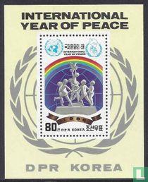 Internationaal jaar van de vrede (getand)