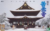 Zenkoh Temple, National Treasure (Snow)
