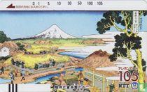 Tea Gardens At Katakura by Katsushika Hokusai