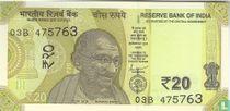 India 20 Rupees 2019