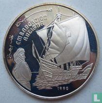"""Arabische Democratische Republiek Sahara 500 pesetas 1990 (PROOF) """"Embarcation Antigua"""""""