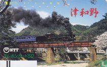 Steam Locomotive C 571 crossing a Bridge