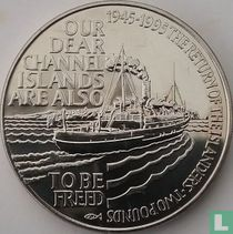 "Alderney 2 pounds 1995 ""50th anniversary Liberation of the Channel Islands"""