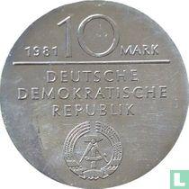 "DDR 10 mark 1981 ""150th anniversary Death of Georg Wilhelm Friedrich Hegel"""