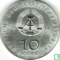 """DDR 10 mark 1988 """"500th anniversary Birth of Ulrich von Hutten"""""""