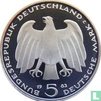 """Duitsland 5 mark 1983 (PROOF) """"100th anniversary Death of Karl Marx"""""""