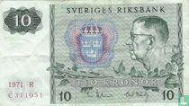 Schweden 10 Kronor 1971