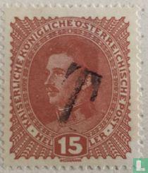 Emperor Karl I with overprint T