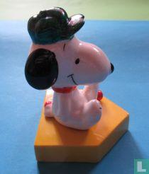 Snoopy - zittende honkbalspeler