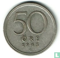 Schweden 50 Öre 1943