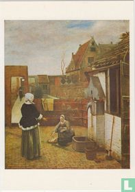 A Woman and her Maid in a Courtyard, 1640