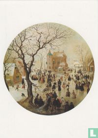 A Winter Scene with Skaters near a Castle, 1608/09