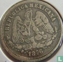 Mexico 25 centavos 1876 (Pi H)