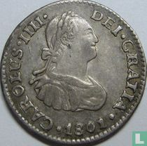 Mexico ½ real 1801 (FM)