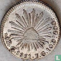Mexico ½ real 1861 (Ga JG)