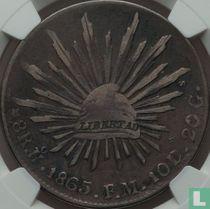 Mexico 8 reales 1865 (Ho FM)
