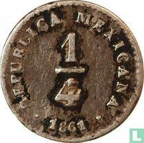 Mexico ¼ real 1861 (Mo LR)