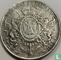 Mexico 1 peso 1866 (Mo)