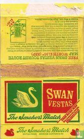 Swan vestas the smoker`s match