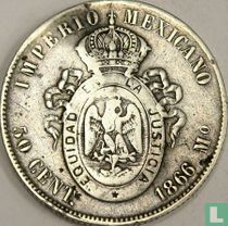 Mexico 50 centavos 1866