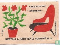 Vase bydleni zprijemni kvetina a nabytek z podniku