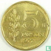 Argentina 5 pesos 1977