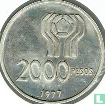 """Argentina 2000 pesos 1977 """"1978 Football World Cup in Argentina"""""""