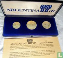 """Argentinië jaarset 1978 (PROOF) """"Football World Cup in Argentina"""""""