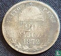 Hongarije 20 krajczar 1872