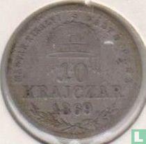 Hongarije 10 krajczar 1869 (KB)