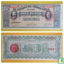 Mexico Regionaal 10 Peso 1915 CHIHUAHUA
