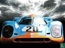 Porsche 917 Gulf Steve McQueen Le Mans 1970 HAND-SIGNED by Artist