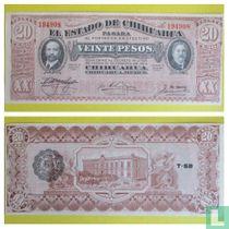 Mexico Regionaal 20 Peso 1915 CHIHUAHUA