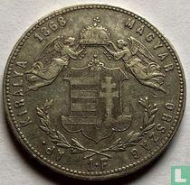 Hongarije 1 forint 1868 (KB)